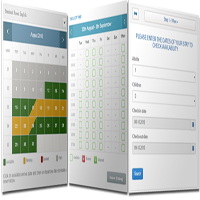 Time slot monthly booking calendar demo